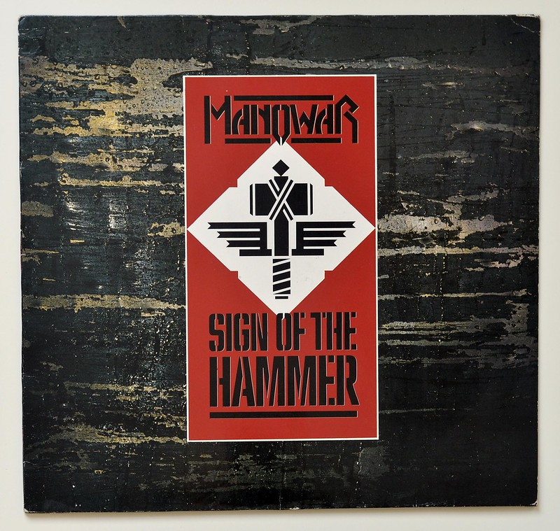 Manowar Sign Of The Hammer Heavy Metal Hard Rock Vinyl