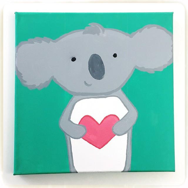 Koala Valentine Painting