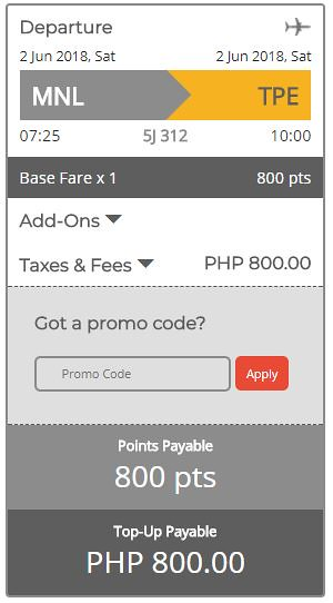 Manila to Taipei June 2, 2018 Cebu Pacific Air GetGo Promo Final