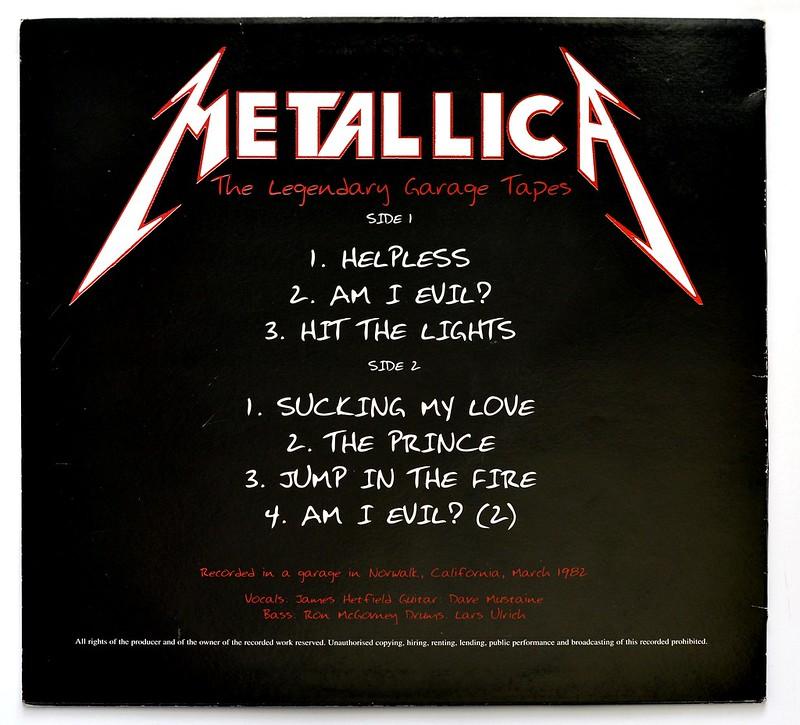 A0298 Metallica The legendary Garage Tapes