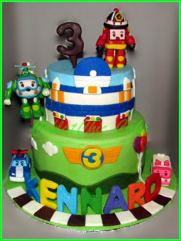 Cake Robocar Poli KENNARD 15 cm + 12 cm