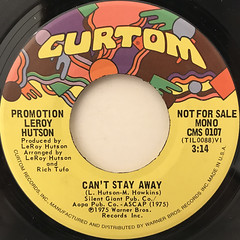 LEROY HUTSON:CAN'T STAY AWAY(LABEL SIDE-B)