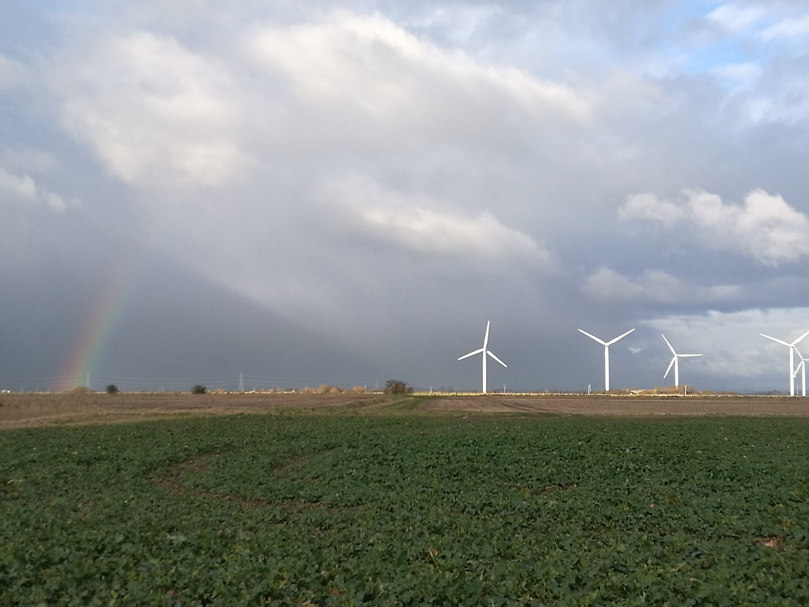 Rainbow and Wind Farm SWC 154 - Rye to Dungeness and Lydd-on-Sea or Lydd or Circular (Wind Farm Extension of Rye Ending) [taken by Emma P]
