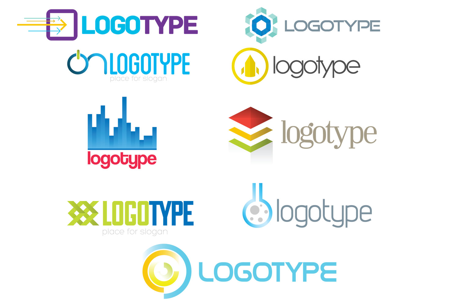 Logo templates in PSD format for Photoshop