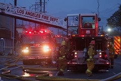 Greater Alarm Commercial Fire in Eagle Rock