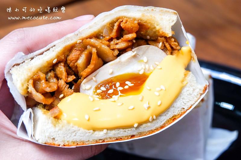 台北早午餐,台北早餐,捷運中山站美食,朝富早午餐,爆燒肉黃金溏心蛋,爆燒肉黃金溏心蛋吐司,粉漿蛋餅 @陳小可的吃喝玩樂