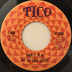 THE JOE CUBA SEXTET:OH YEAH!(LABEL SIDE-B)