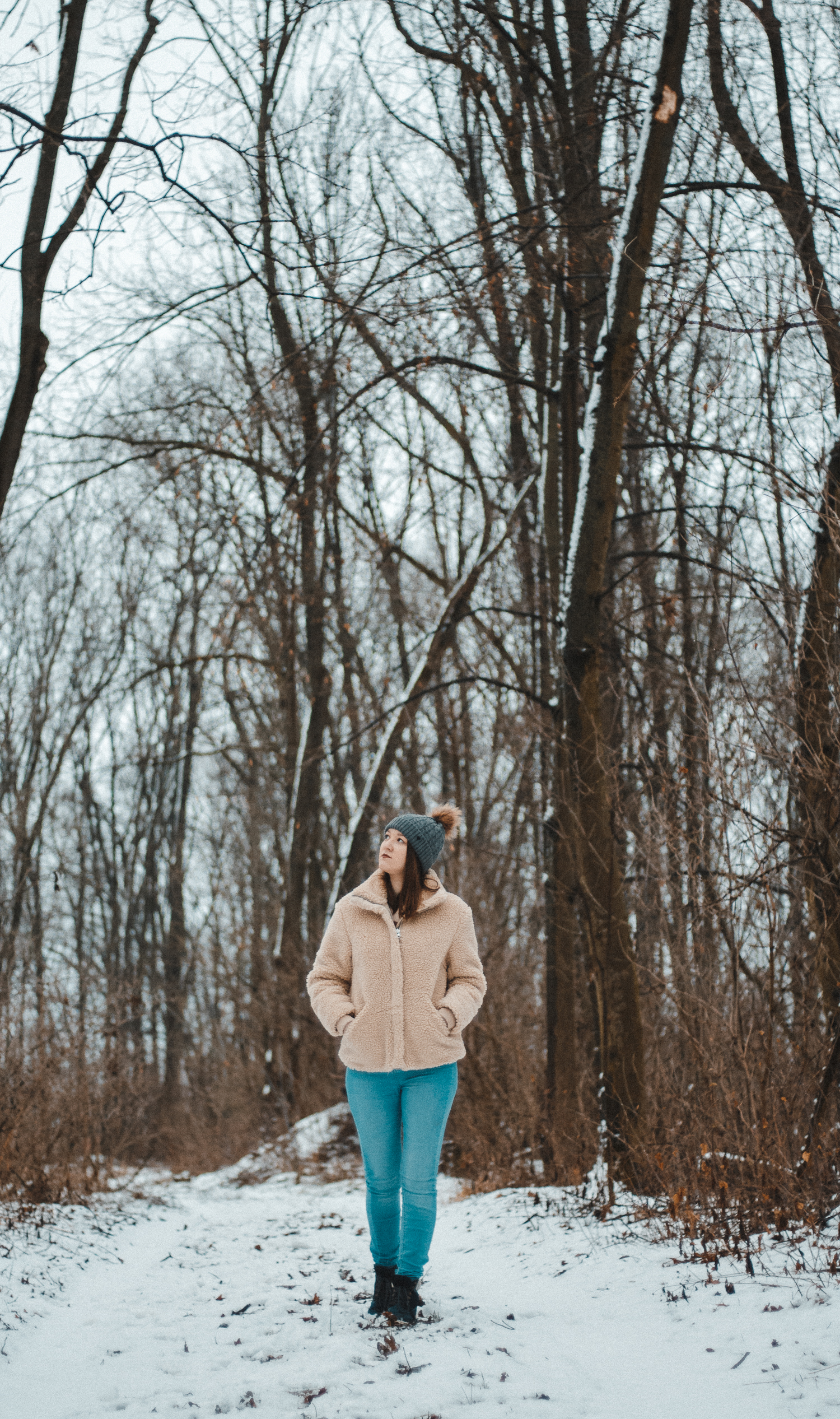 winter walk photoshoot