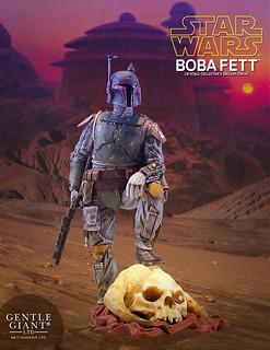 用雪怪「丸帕」的頭骨當墊腳石果然霸氣!! Gentle Giant Collector's Gallery 星際大戰【波巴·費特】Boba Fett 1/8 比例全身雕像作品