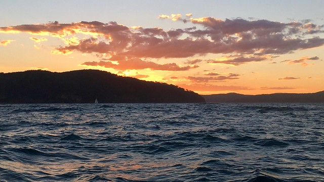 Box Head. Sailing toward Barrenjoey Lighthouse and Pittwater