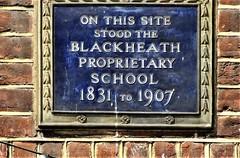 Photo of Blackheath Proprietary School blue plaque