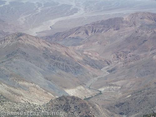 Wild canyons below Telescope Peak in Death Valley National Park, California
