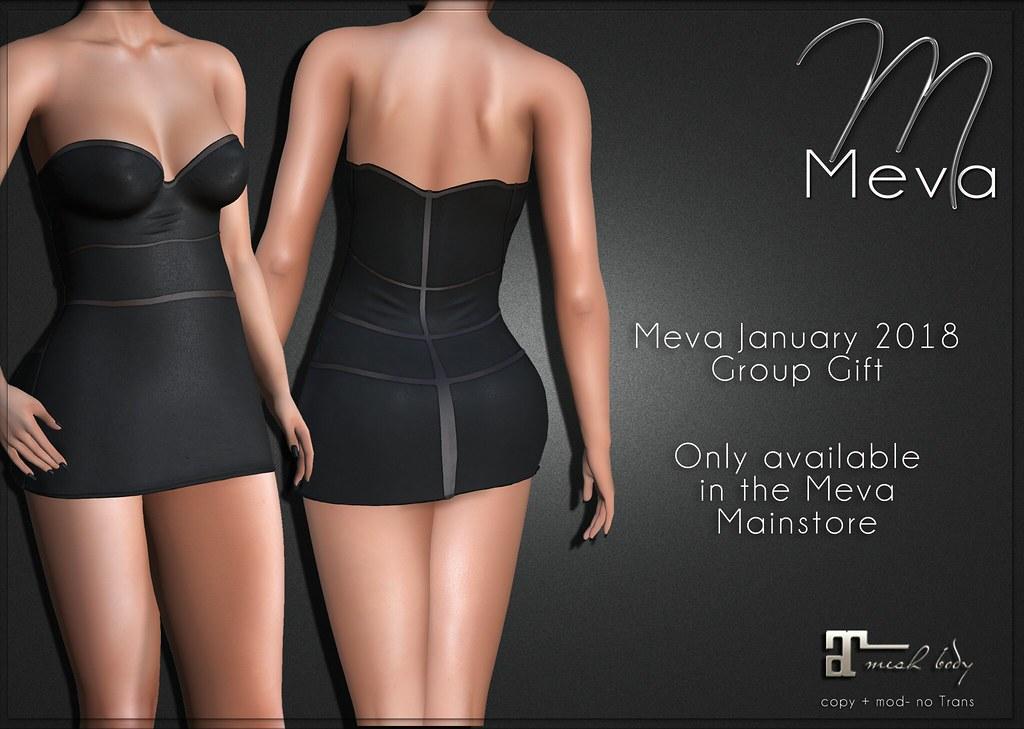 Meva January 2018 Group Gift Dress2 - TeleportHub.com Live!