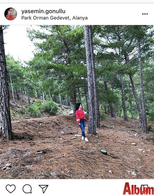 Yasemin Gönüllü, Park Orman Gedevet'te keyifli bir gün geçirdi.