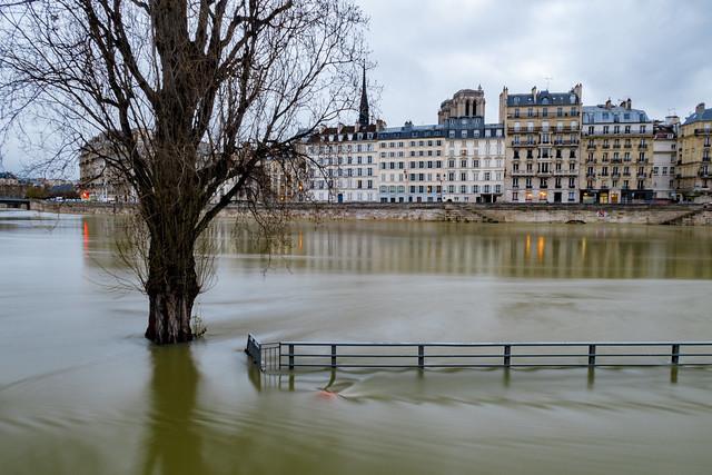 Paris, crue de la Seine