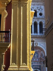 Cathedral in Malaga old town