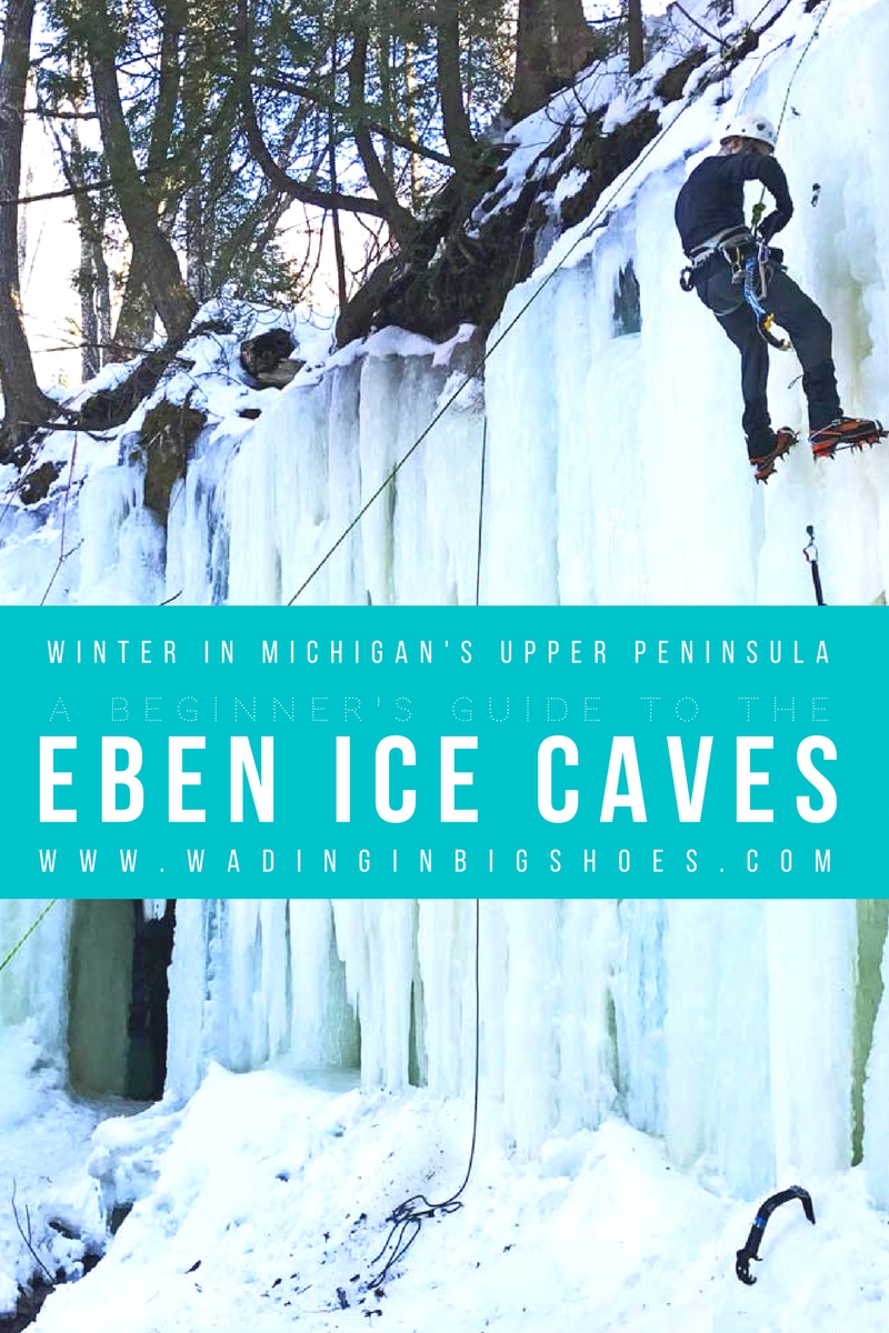 Winter In Michigan's Upper Peninsula: A Beginner's Guide To The Eben Ice Caves [ via Wading in Big Shoes] // The Eben Ice Caves, located just outside Munising and Marquette in Michigan's upper peninsula, are a picturesque natural wonder. Use these tips to learn what you should do during your first hike to the frozen ice caves!