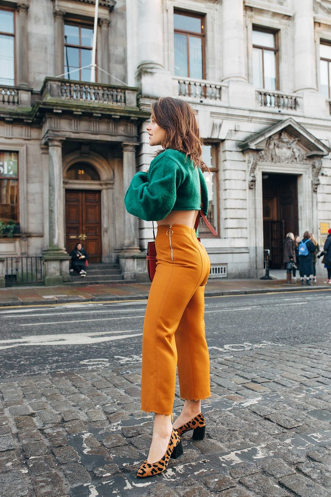 The Little Magpie Mustard Cropped Topshop Trousers Edinburgh