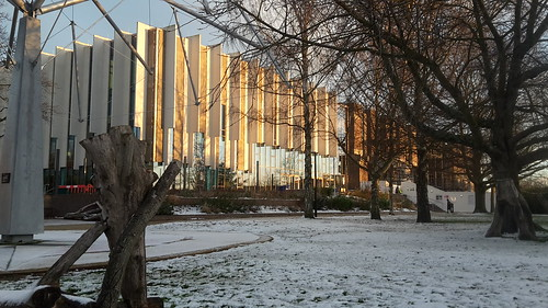 Templeman Library A Block in the snow (Jan18)