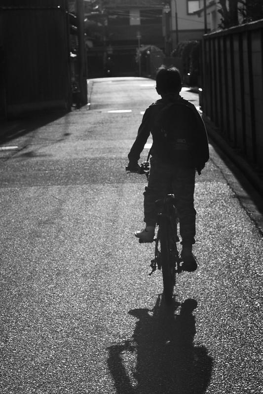 A boy and the bike