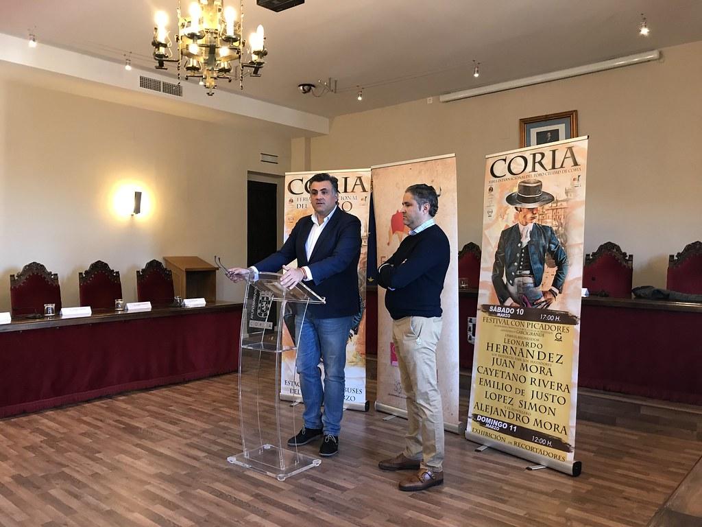 Leonardo Hernández, Juan Mora, Cayetano Rivera, Emilio de Justo, López Simón y Alejandro Mora componen el Cartel Taurino de FITCORIA 2018