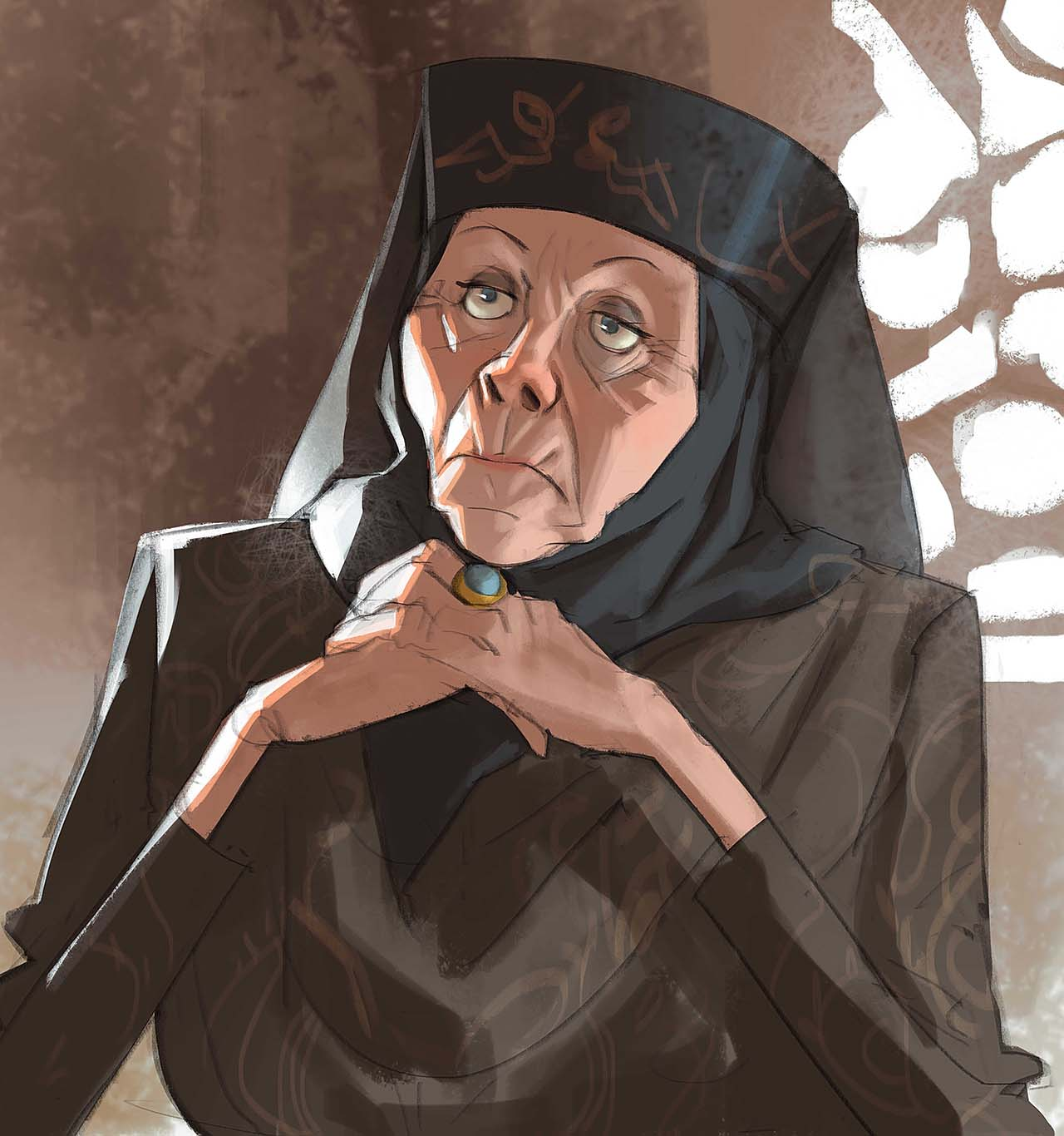 Artist Creates Unique Character Arts From Game Of Thrones – Lady Olenna Character Art By Ramón Nuñez
