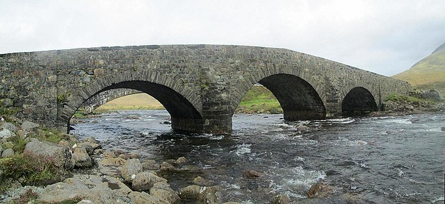 Old Bridge on Skye (New Bridge through Arch)