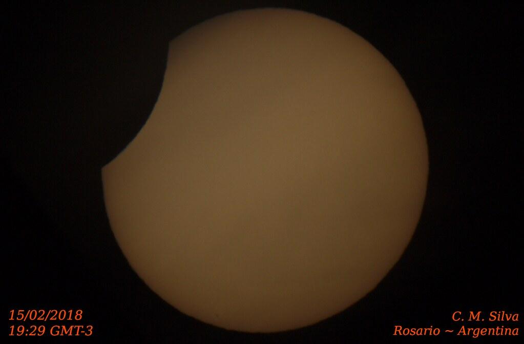 Eclipse Parcial de Sol 15-02-2018