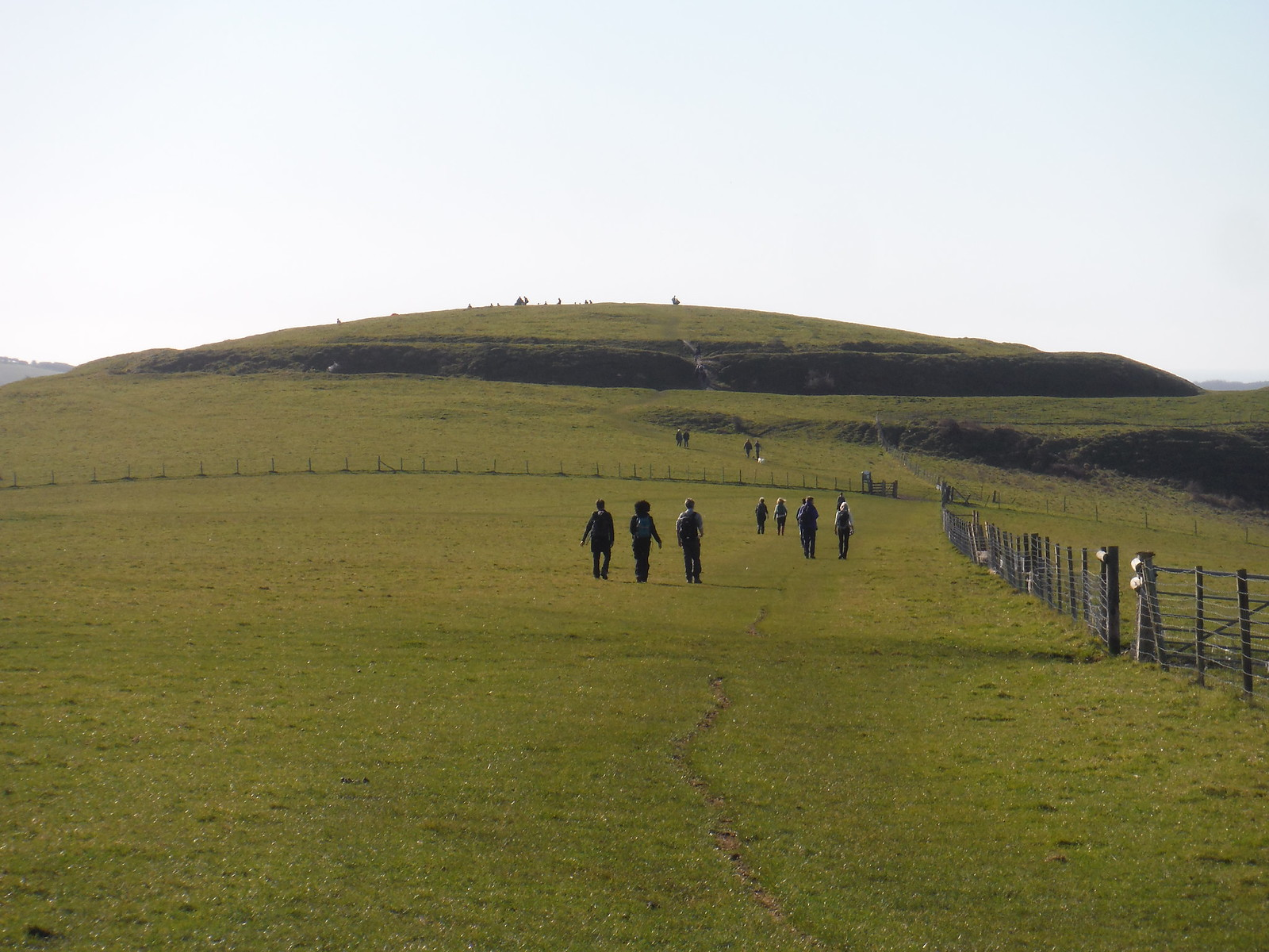 The Caburn (Iron Age Hill Fort) from route along Saxon Down SWC Walk 181 - Lewes to Seaford via West Firle