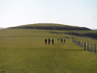 The Caburn (Iron Age Hill Fort) from route along Saxon Down