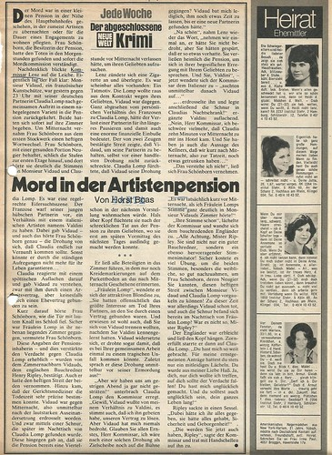 Horst Boas: Mord in der Artistenpension