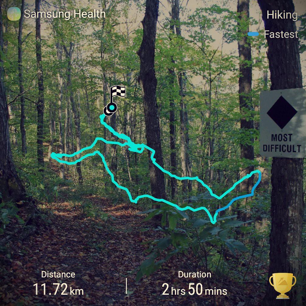 Devils Glen Bruce Trail route