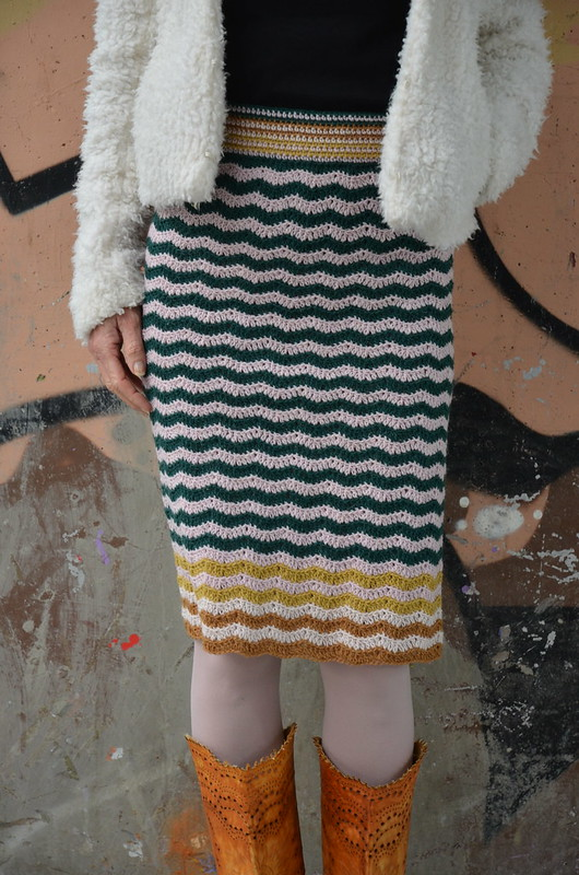 woodwoolstool striped midi pencil skirt