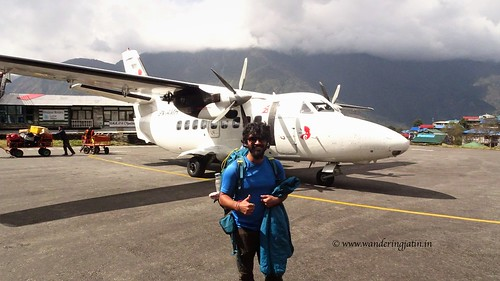 Small passenger aircraft at Lukla Airport