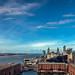 Liverpool vue de la grande roue ,  Liverpool seen from the top of the Ferris wheel