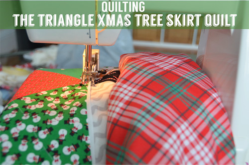 Quilting the Triangle Christmas Tree Skirt