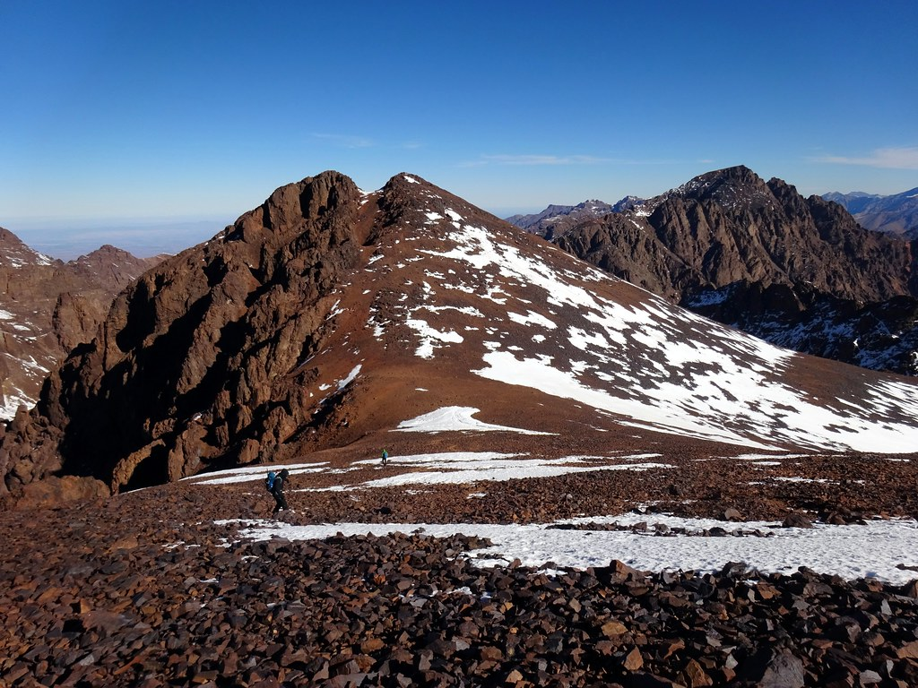Another one of Ras n-Ouanoukrim and Toubkal from Timesguida