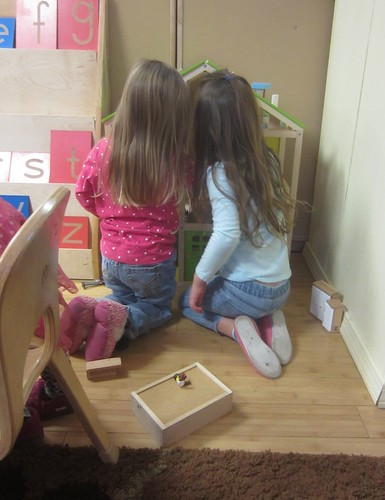 Playing with the doll house