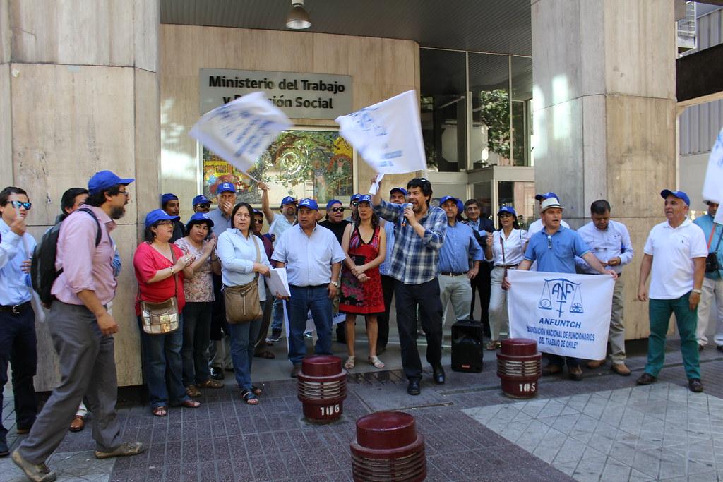 ANFUNTCH protesta por Ley de Plantas (15-12-2017)