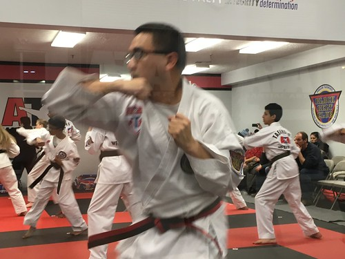 Self defense testing at the ATA Taekwondo