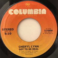 CHERYL LYNN:GOT TO BE REAL(LABEL SIDE-A)