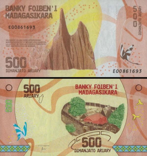 500 Ariary Madagaskar 2017, P099
