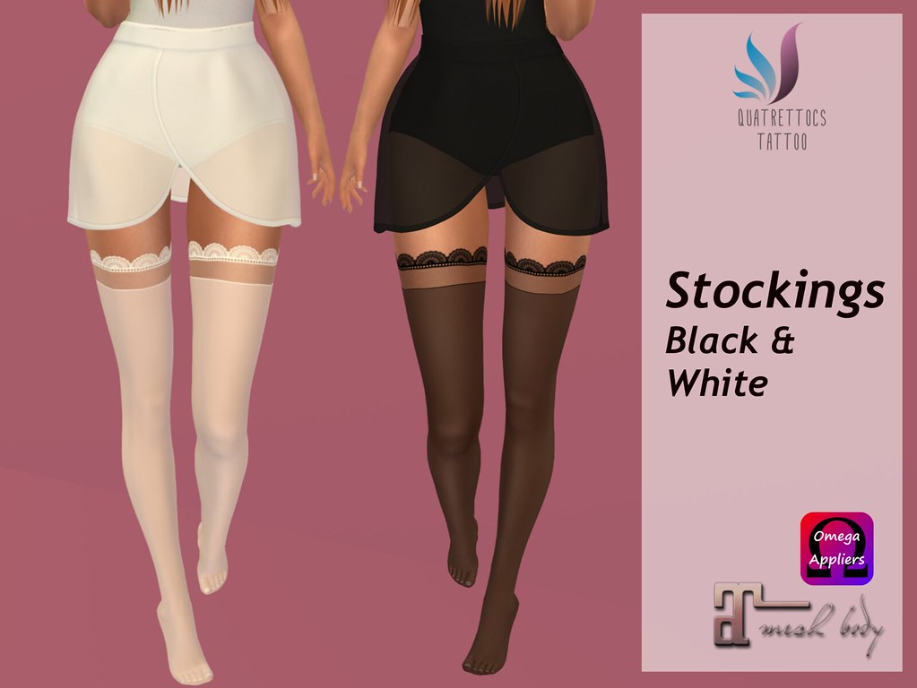 Black & White Stockings - TeleportHub.com Live!