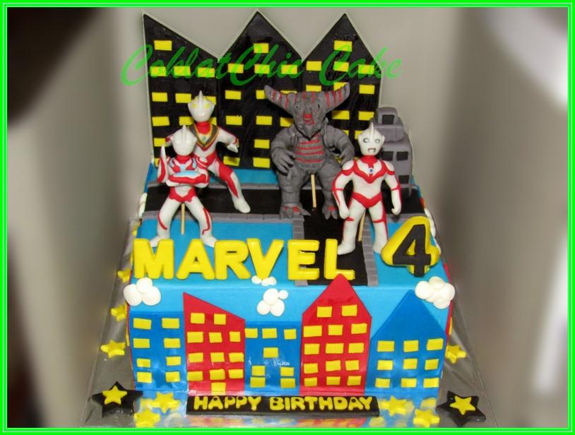 Cake Ultraman MARVEL 20cm