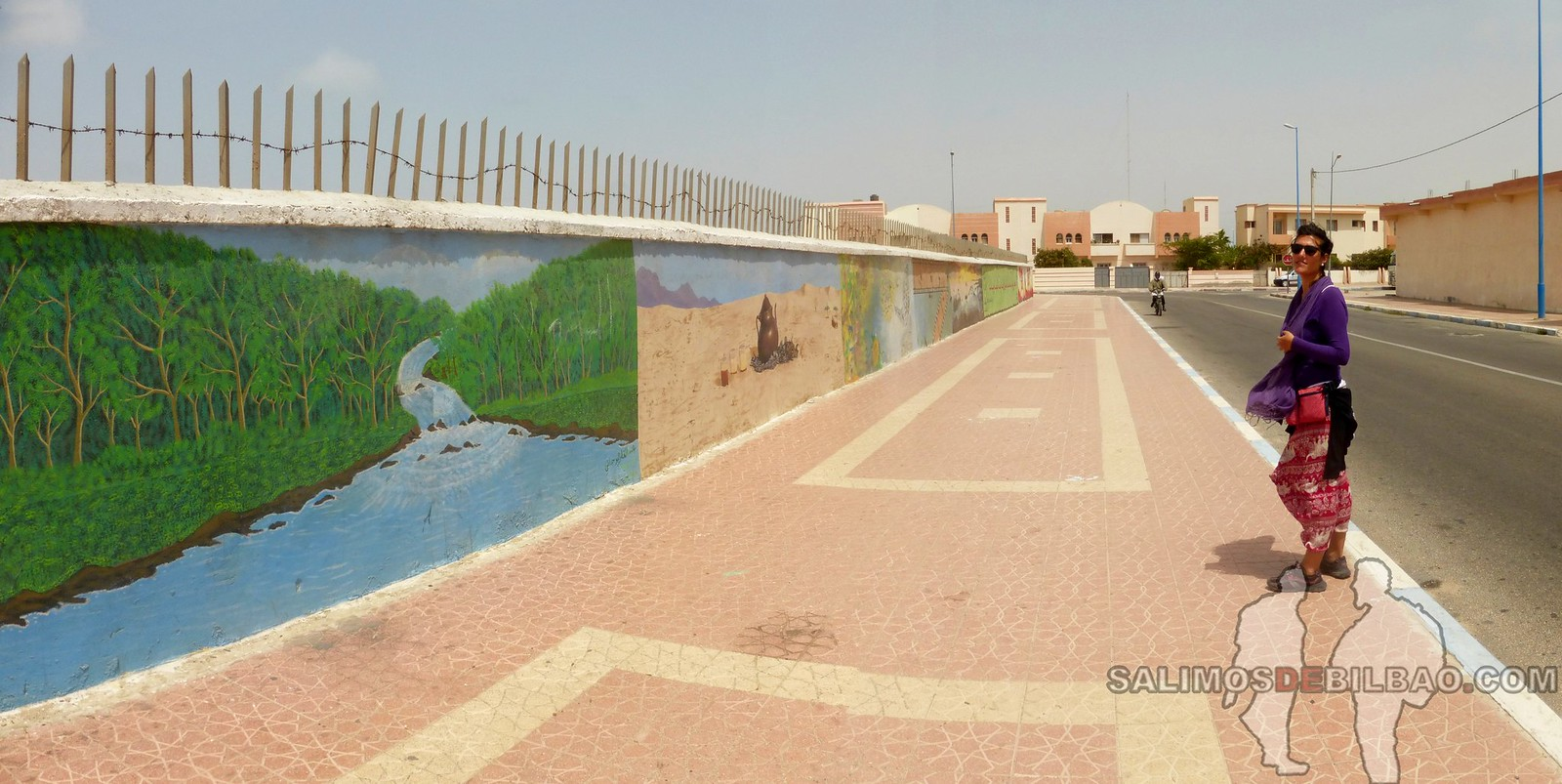 180. Saioa, Pano, Grafitis, Paseo del al centro, Dakhla