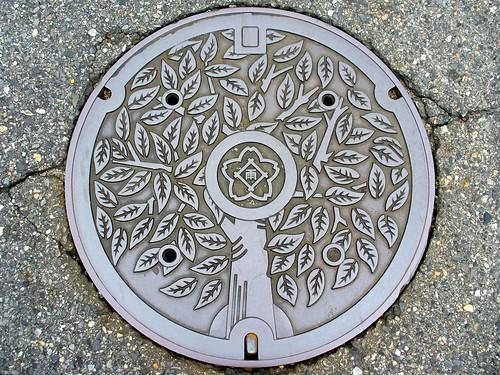 Kasugai Aichi, manhole cover 2 (愛知県春日井市のマンホール2)