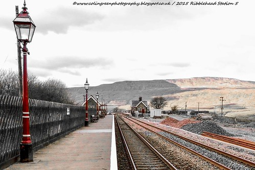 Scenery beyond Platform 2 at Ribblehead.