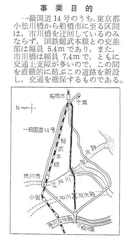 京葉道路当初路線図