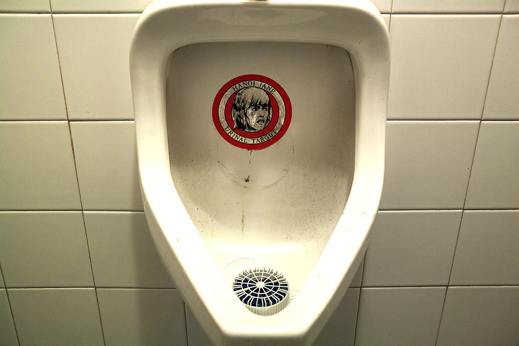 HANOI JANE URINAL TARGET at Cookie's Tavern--South Philly