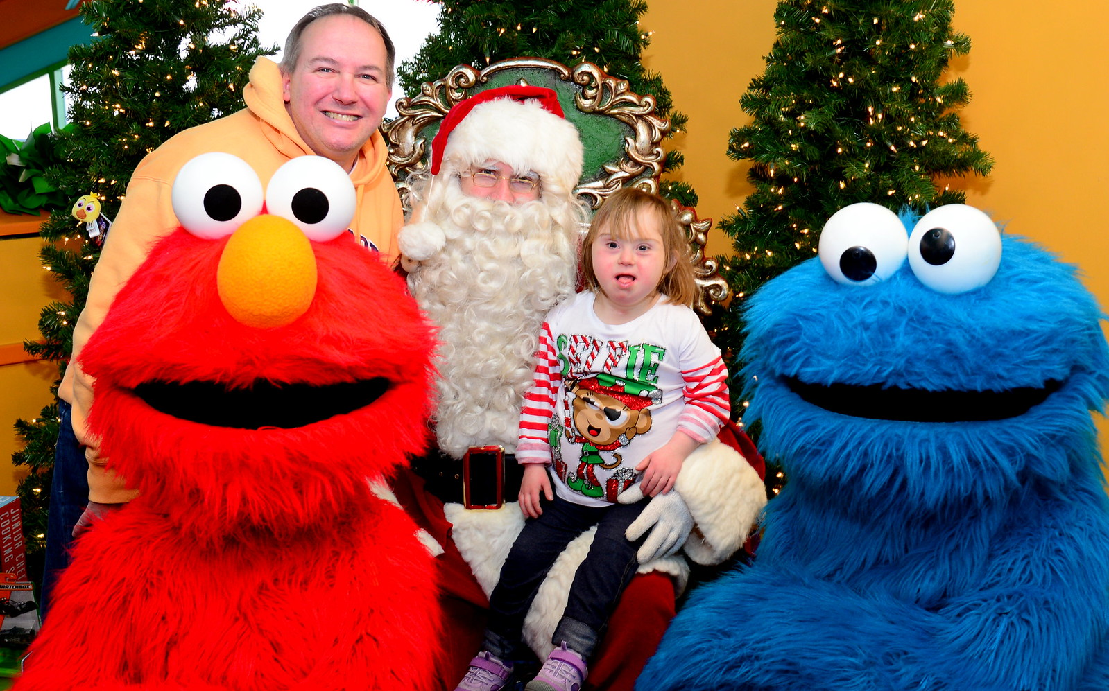 The Barkann Foundation's Holiday Hearts Party at Sesame Place!